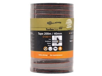 Gallagher TurboStar tape 40 mm Super (terra, 200 metres)