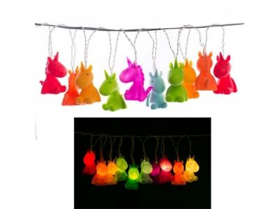 Lichterkette mit 10 Einhörnern