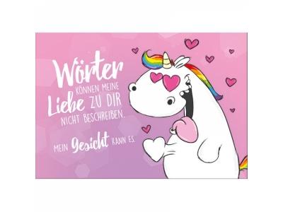 Pummeleinhorn Grusskarte Liebe mit Ums..