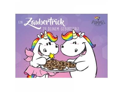 Pummeleinhorn Grusskarte Zaubertrick z..