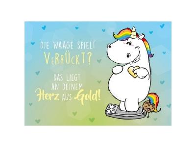 Pummeleinhorn: Postkarte Die Waage spi..