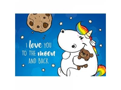 Pummeleinhorn: Postkarte I love you to..