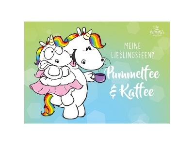 """Pummeleinhorn: Postkarte """"Pummelfee un.."""