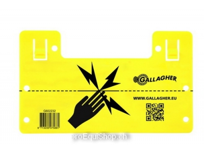 Gallagher EU Warnschild (universal)
