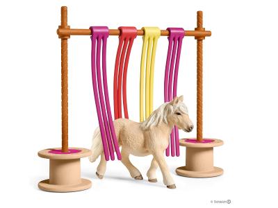 Schleich Pony mit Flattervorhang